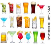 set of different drinks ... | Shutterstock . vector #89407225