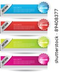 colorful hi quality web sale... | Shutterstock .eps vector #89408377