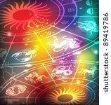 horoscope background | Shutterstock .eps vector #89419786