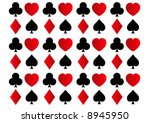rows of spades  clubs  hearts... | Shutterstock . vector #8945950