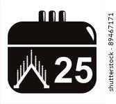 black christmas calendar icon | Shutterstock .eps vector #89467171