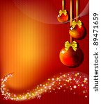 abstract red merry christmas... | Shutterstock .eps vector #89471659