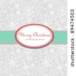 merry christmas greeting card | Shutterstock .eps vector #89474503