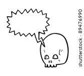 graffiti style skull with... | Shutterstock .eps vector #89476990