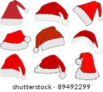 red santa claus hat | Shutterstock .eps vector #89492299
