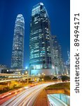 traffic night in downtown area  ... | Shutterstock . vector #89494171
