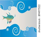 small fish among the waves | Shutterstock .eps vector #89497522
