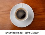 coffee cup on table - stock photo