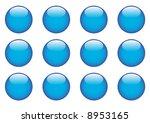 blue round buttons | Shutterstock . vector #8953165