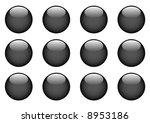 black round buttons | Shutterstock . vector #8953186