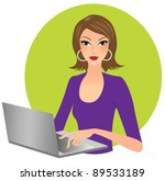 attractive business woman... | Shutterstock .eps vector #89533189