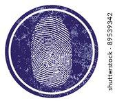fingerprint sign vector | Shutterstock .eps vector #89539342