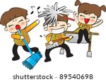 happy days and  funny life | Shutterstock .eps vector #89540698