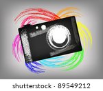 the grunge camera on a... | Shutterstock .eps vector #89549212
