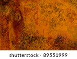 old rusted tin background and... | Shutterstock . vector #89551999