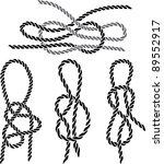 sea knot set stencil. vector...   Shutterstock .eps vector #89552917