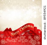 christmas background with... | Shutterstock . vector #89554921