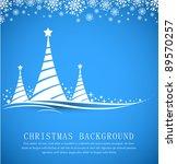 christmas background vector | Shutterstock .eps vector #89570257