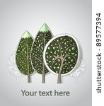 background with trees | Shutterstock .eps vector #89577394