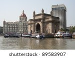 Gateway to India in Mumbai. - stock photo