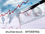 collage of financial and... | Shutterstock . vector #89588986