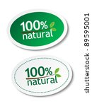 100  natural stickers | Shutterstock .eps vector #89595001