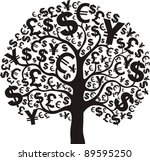 black money tree isolated on... | Shutterstock .eps vector #89595250