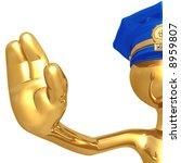 golden police officer stop... | Shutterstock . vector #8959807