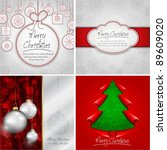 elegant red christmas design... | Shutterstock .eps vector #89609020