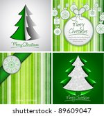 elegant green christmas design... | Shutterstock .eps vector #89609047