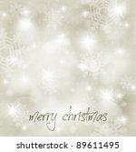 vector christmas blurry... | Shutterstock .eps vector #89611495