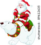 Santa Claus Riding On The Back...