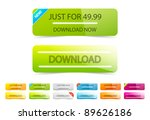vector clean download buttons | Shutterstock .eps vector #89626186