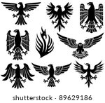 heraldic eagles set   Shutterstock .eps vector #89629186