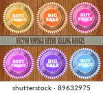 vector set of vintage selling...   Shutterstock .eps vector #89632975
