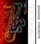 jazz concert poster | Shutterstock .eps vector #89639428