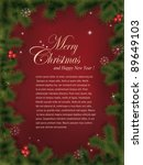 vector christmas greeting card. ... | Shutterstock .eps vector #89649103