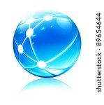 vector illustration of glossy... | Shutterstock .eps vector #89654644