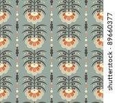 seamless retro flower pattern | Shutterstock .eps vector #89660377