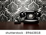 Vintage Telephone Over Ornate...