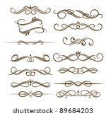 vintage elements set for ornate.... | Shutterstock .eps vector #89684203