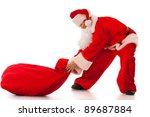 Funny Santa Clause Pulling A...