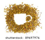 green dry tea cup shape... | Shutterstock . vector #89697976