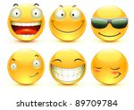vector illustration set of cool ... | Shutterstock .eps vector #89709784