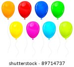 beautiful color balloons... | Shutterstock .eps vector #89714737