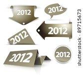 vector golden 2012 labels ...   Shutterstock .eps vector #89715673