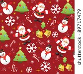 christmas pattern background | Shutterstock .eps vector #89717479
