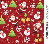 christmas pattern background | Shutterstock .eps vector #89717479