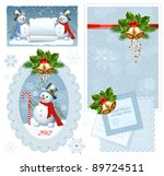 set of christmas frames. | Shutterstock .eps vector #89724511