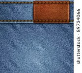 jeans texture with leather... | Shutterstock .eps vector #89734066